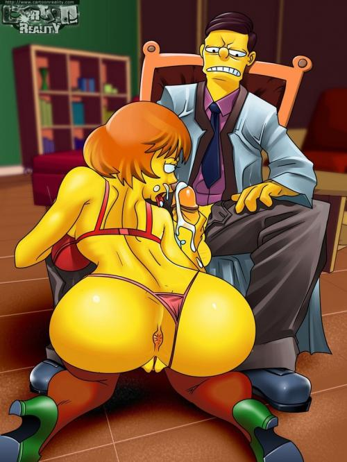 Marge Showing Us Her Beautiful Pussy And Nice Ass Even Bart Likes